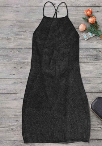 dress black dress girly black see through mesh mesh dress cover up backless backless dress halter neck halter neck dress