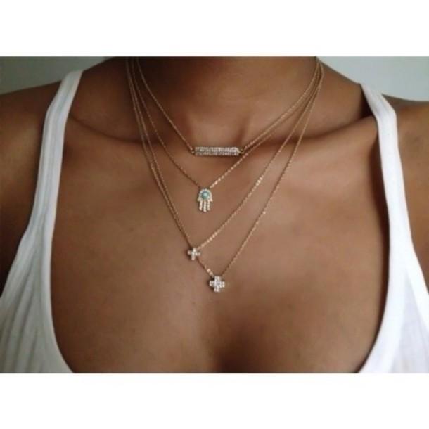 jewels gold chain beautiful diamonds cross cute sexy fashion