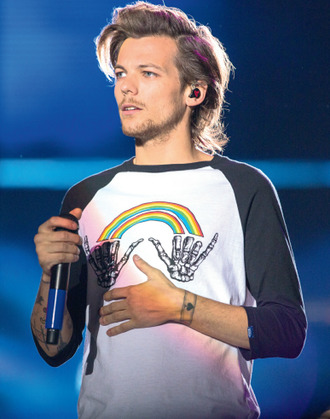 louis tomlinson raimbow black and white skeleton hipster t-shirt mens t-shirt hand
