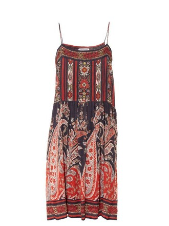 dress sleeveless dress sleeveless print paisley black