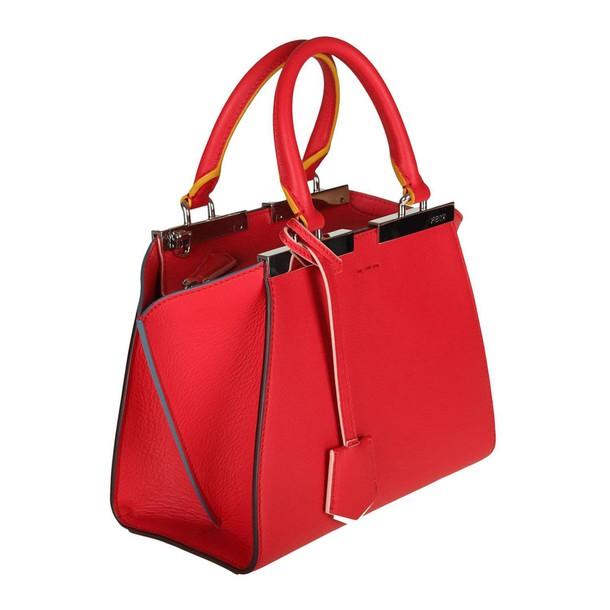 Fendi women bag handbag shoulder bag red