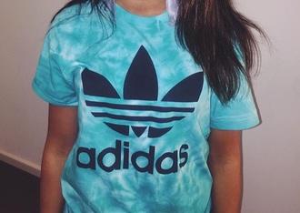 shirt adidas blue tie dye