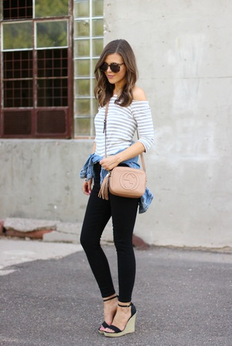 sophistifunk by brie bemis rearick | a personal style + beauty blog blogger bag top jeans jacket shoes sunglasses jewels