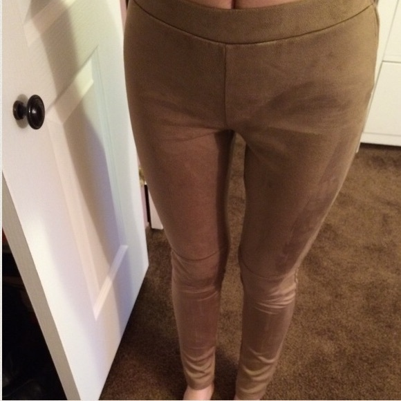 Joe & Elle - NWOT Midrise camel faux suede skinny legging pants from Brittany's closet on Poshmark