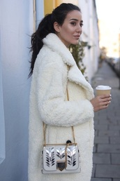 jacket,white,fluffy,white fur coat,fur coat,furry coat