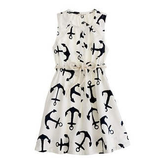 dress anchor anchor dress black and white