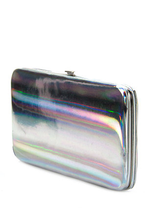 Ladies Accessories Holographic Clip Purse|bags / Purses