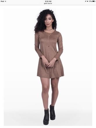 dress suede dress mocha suede dress suede midi dress brown dress