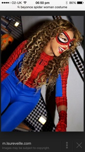 jumpsuit,spider-man,costume,beyonce fashion,halloween costume