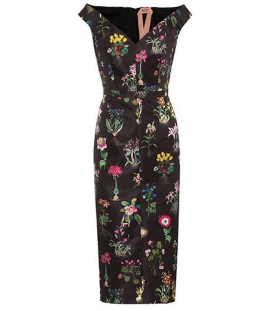 dress satin dress floral satin