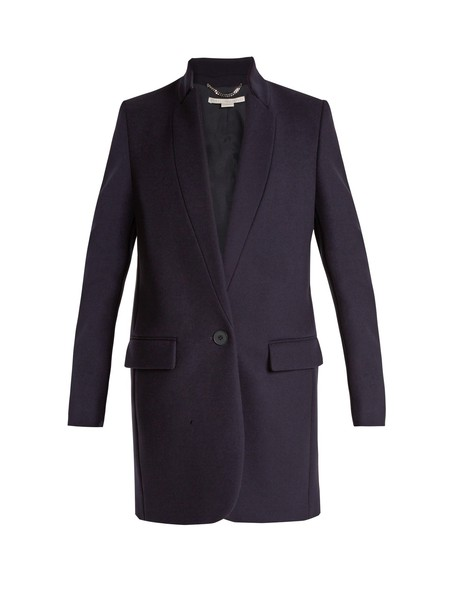 Stella McCartney coat wool navy