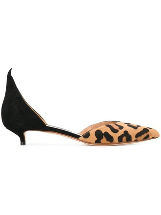 hair women pumps leather print black leopard print shoes