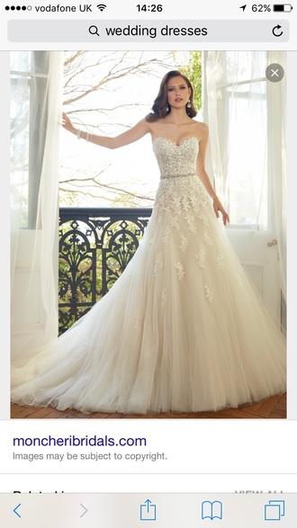 dress wedding dress white pretty cute