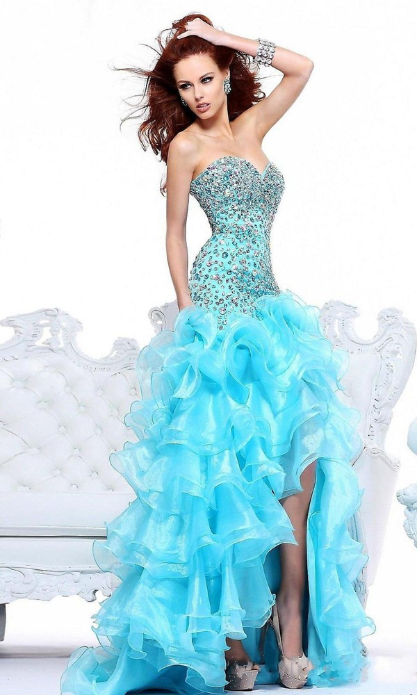 dress ice blue prom dress blue prom dress