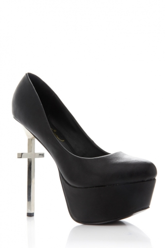 Privileged Shoes Metal Cross Heel Pump @ Cicihot Heel Shoes online store sales:Stiletto Heel Shoes,High Heel Pumps,Womens High Heel Shoes,Prom Shoes,Summer Shoes,Spring Shoes,Spool Heel,Womens Dress Shoes,Prom Heels,Prom Pumps,High Heel Sandals