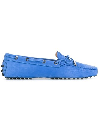 women classic shoes leather blue suede