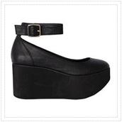 shoes,black heels,faux leather,platform heels,ankle strap,ankle strap heels,platform ballerinas