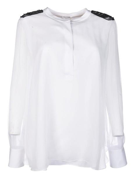 BRUNELLO CUCINELLI shirt long transparent top