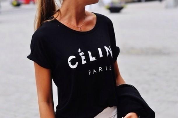 blouse shirt celine paris shirt t-shirt celineparis celine t-shirt paris