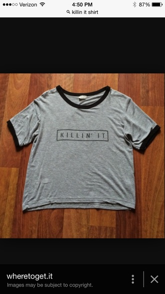 shirt gray killin it brandy melville usa