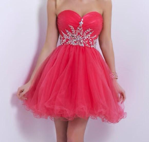 short dress pink dress jewels strapless dresses