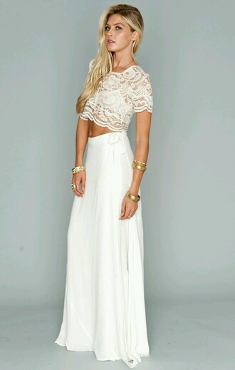 White Maxi Skirt - Shop for White Maxi Skirt on Wheretoget