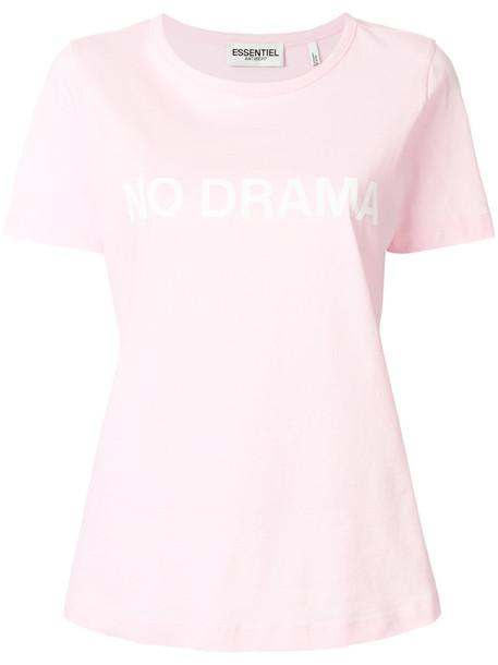 ESSENTIEL ANTWERP t-shirt shirt t-shirt women cotton purple pink top