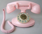 home accessory,pink,vintage,telephone,retro