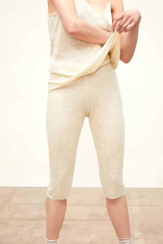 SPECIAL GARMENT SEQUINNED TROUSERS