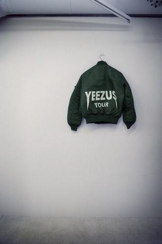 jacket yeezus bomber jacket green