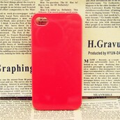 phone cover,clear hard red iphone case