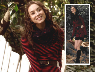 dress pretty little liars red dress black dress striped dress stripes spencer hastings girl girly preppy pretty cute dress fashion style