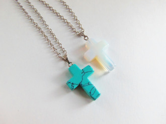 jewels bubblegum graffiti cross cross charm cross necklace cross pendant turquoise opal stone natural stone quartz crystal crystal quartz hippie pastel goth grunge boho bohemian gypsy spiritual polished stone gemstone birthday gifts gifts for her birthday gift holiday gift best friend gifts best friend gift anniversary gift jewelry necklace pretty necklace