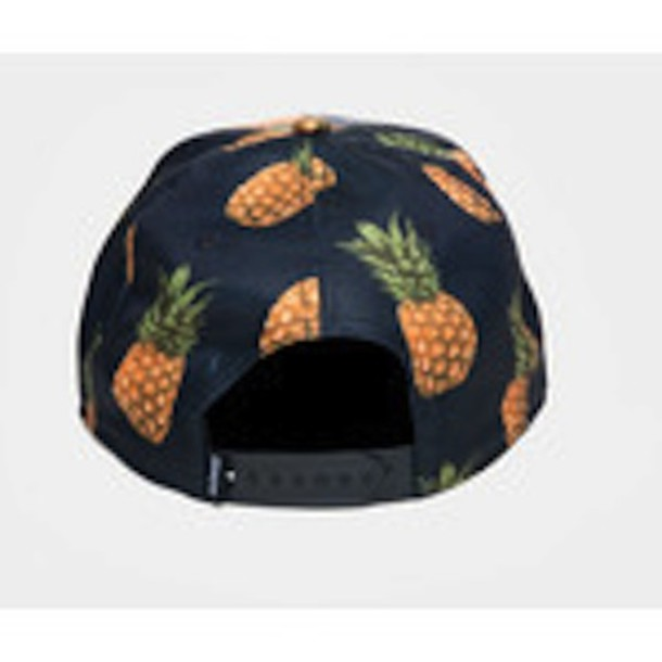 hat snapback pineapple print 6424139656e