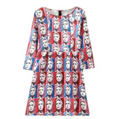 retro dress,cool dress,photo print,party,mini dress