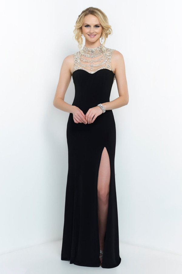 black dress high neckline prom dress backless prom dress off the shoulder evening dress prom dress