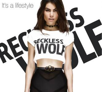 underwear white lingerie lingerie set fashion clothes style model cheeky sexy cute outfit recklesswolf reckless wolf wolfpack swimwear black belt skirt pencil skirt t-shirt crop tops cropped pretty leather accessories bracelets choker necklace ring