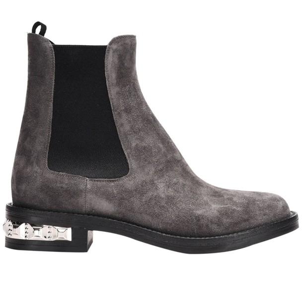 Miu Miu booties shoes women shoes booties grey