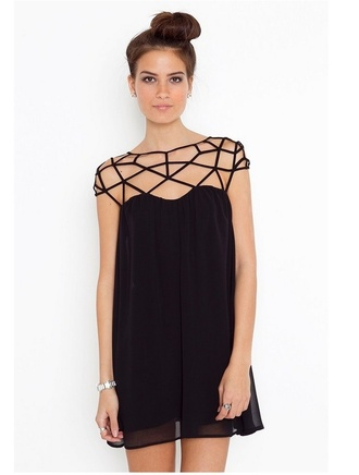 dress aliexpress little black dress asymmetrical black