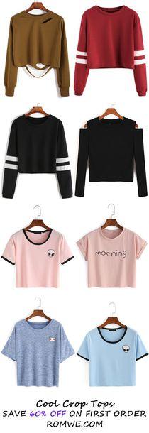 shirt crop tops cute top