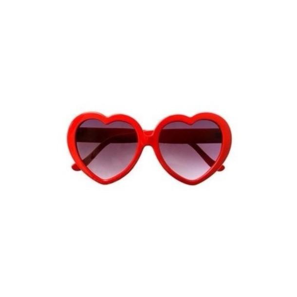 sunglasses heart red