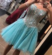 dress,tiffany blue,corset dress