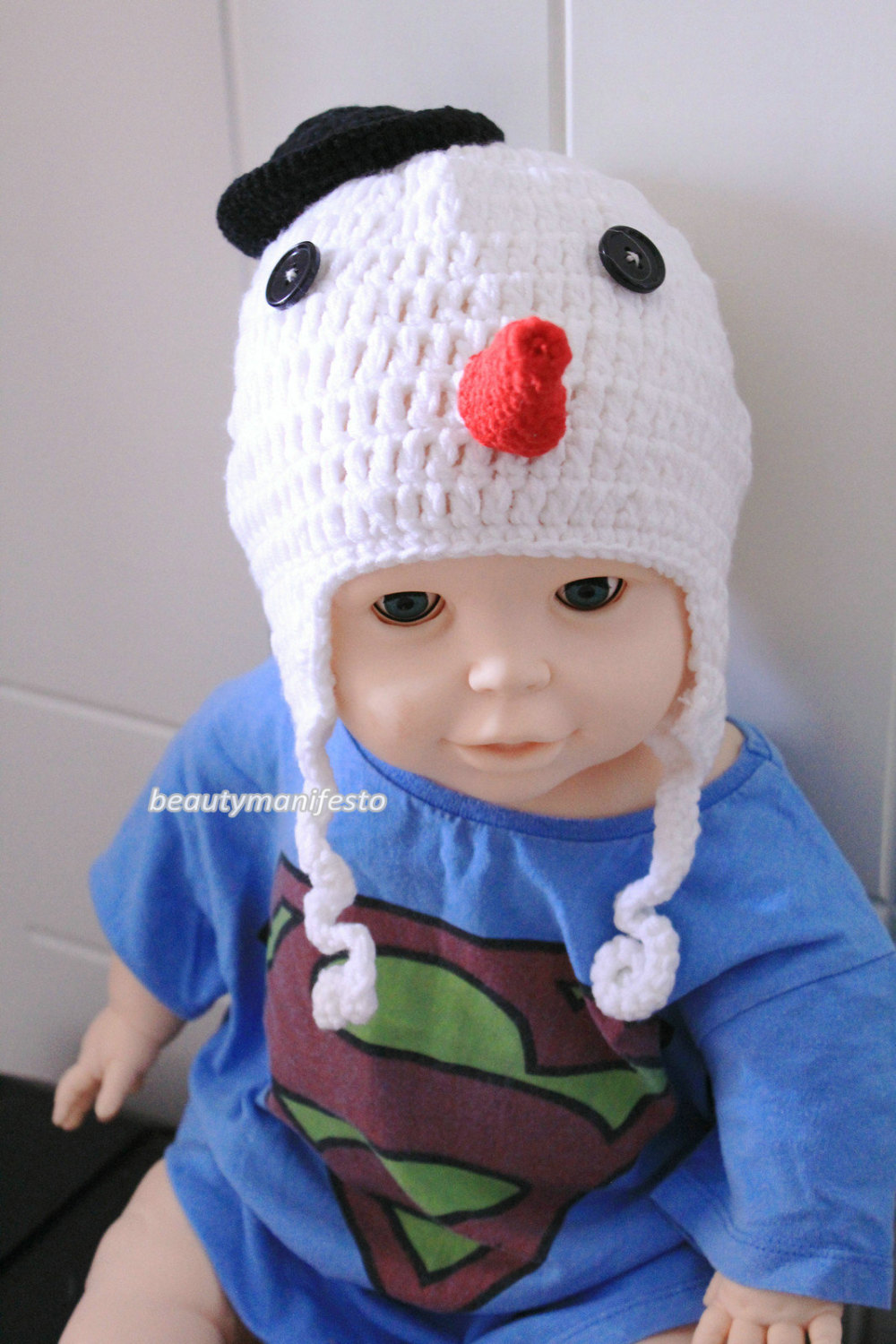 Baby boy hat,baby girl hat,crochet snowman hat, snowman,frosty,photo prop, first christmas, baby shower gift, christmas baby, crochet