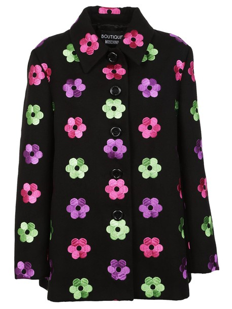 coat embroidered floral