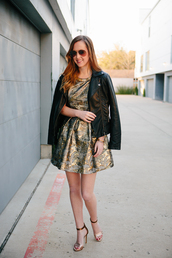 side smile style,blogger,dress,sandals,jacquard,jacket,shoes,jewels