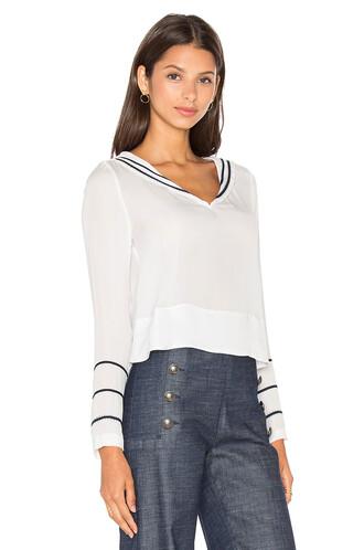 blouse sailor silk white top
