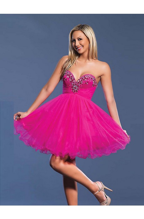 Strapless Sleeveless Empire Prom Dresses
