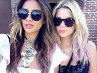 sunglasses shay mitchell ashley benson pretty little liars round sunglasses top lace black coin necklace necklace statement necklace jewels jewelry celebrity style celebrity celebstyle for less choker necklace layered silver jewelry silver necklace cute jewels jewelry necklace cute necklace necklace collar necklaces & pendants edgy rings and tings rings & tings sunnies girly cute indie classy sexy denim cool girl dope acid wash summer vintage stylish style trendy fashion inspo blogger fashionista chill rad pretty beautiful tumblr tumblr girl on point clothing