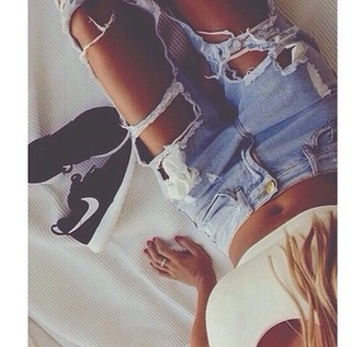 jeans ripped denim boyfriend jeans