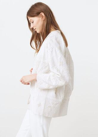 jacket embroidered white jacket want need